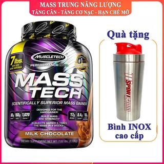 Sữa tăng cân tăng cơ nạc Masstech của Muscletech hộp 3.2kg hương Chocolate hỗ trợ tăng cân tăng cơ nạc, hạn chế mỡ thumbnail