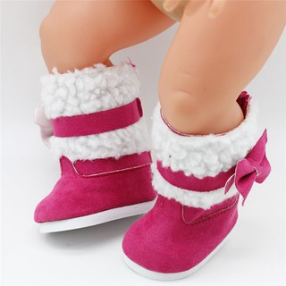18 inch American Girls Dolls Fur Snow Boots Shoes Doll Accessory