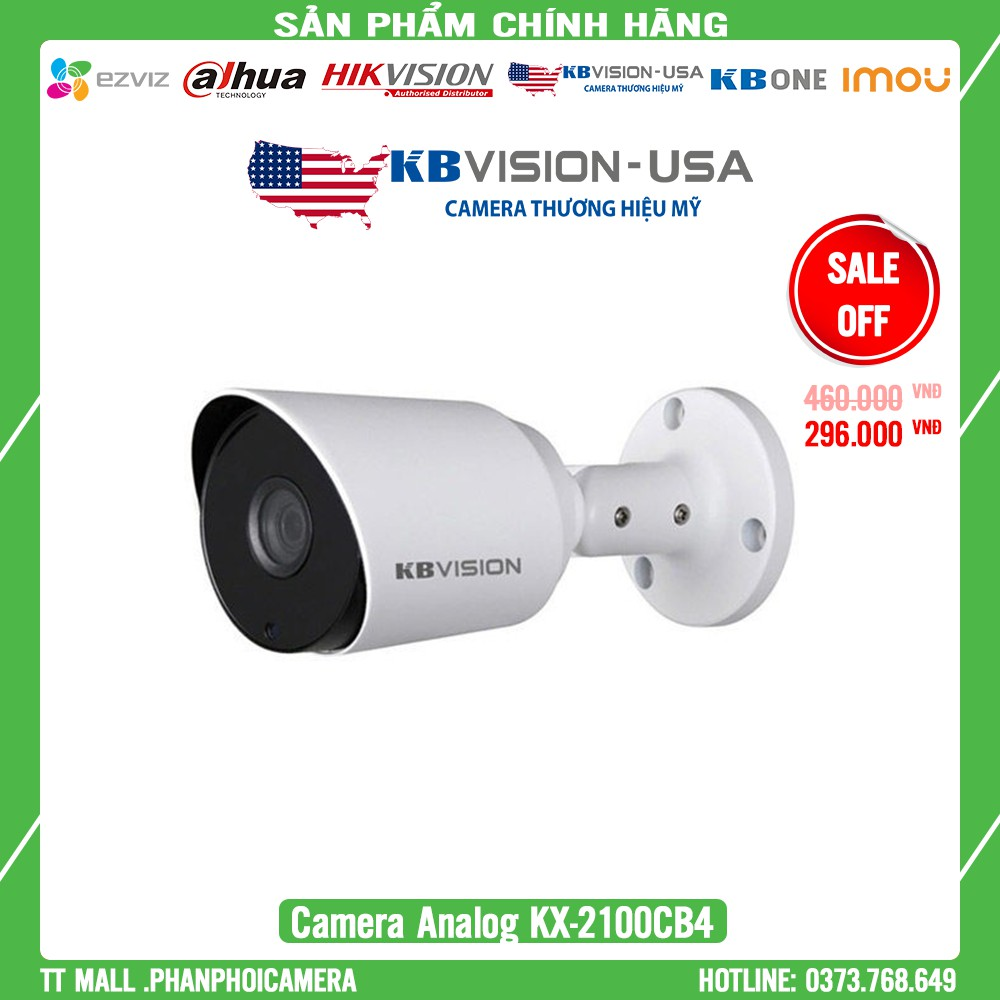 Camera Thân KBvision 2MP Full HD KX-2100CB4