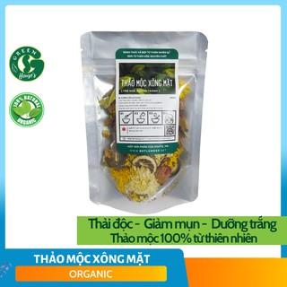 Thảo dược xông mặt thải độc, giảm mụn, dưỡng trắng 100% Organic (tặng kèm lọ tinh dầu) B1.009