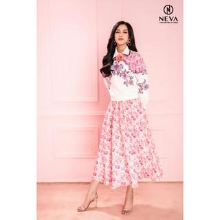 Neva - Chân váy midi paisley hồng 20F1W320213H021 thumbnail