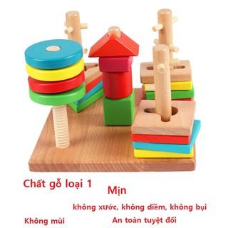 đồ chơi thông minh logic cho trẻ nhỏ hàng đẹp gỗ sịn