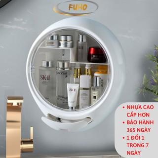 Kệ đựng mỹ phẩm nhà tắm treo tường FUHO, để đồ trang điểm trong nhà tắm treo tường không đục lỗ,làm bằng nhựa ABS(KMP)