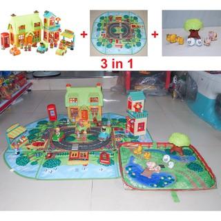 90% Bộ đồ chơi Mô hình nhà phố chợ ELC có Âm thanh (UK-Anh Quốc)