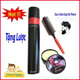 Gôm xịt tóc luxurious kèm sáp vuốt tóc siêu giữ nếp tp01 thumbnail