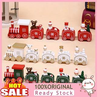 Mod-Mini Wooden Snowman Bear Christmas Train Kids Toy Home Table Window Decoration