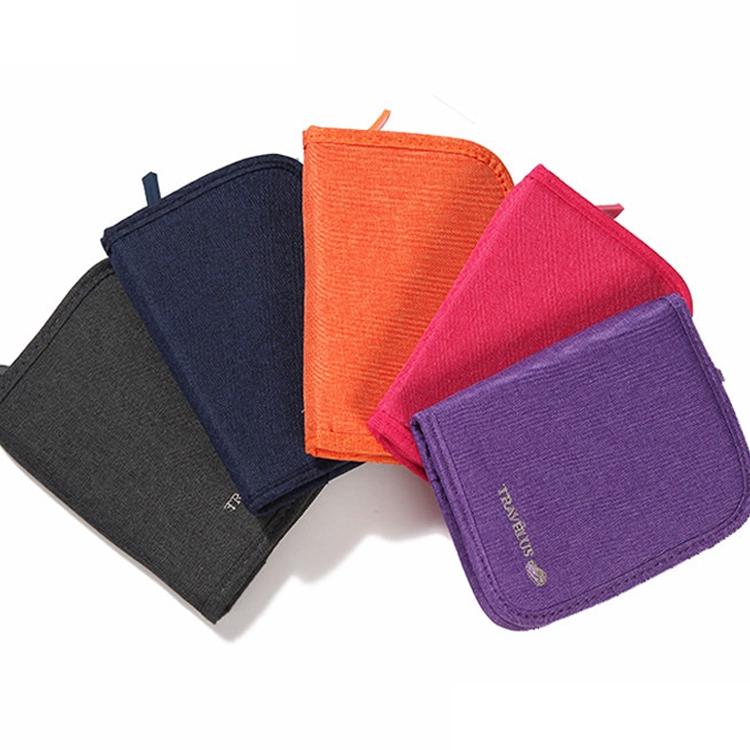 Ví chất liệu vải oxford màu trơn đa năng kiểu dáng đơn giản