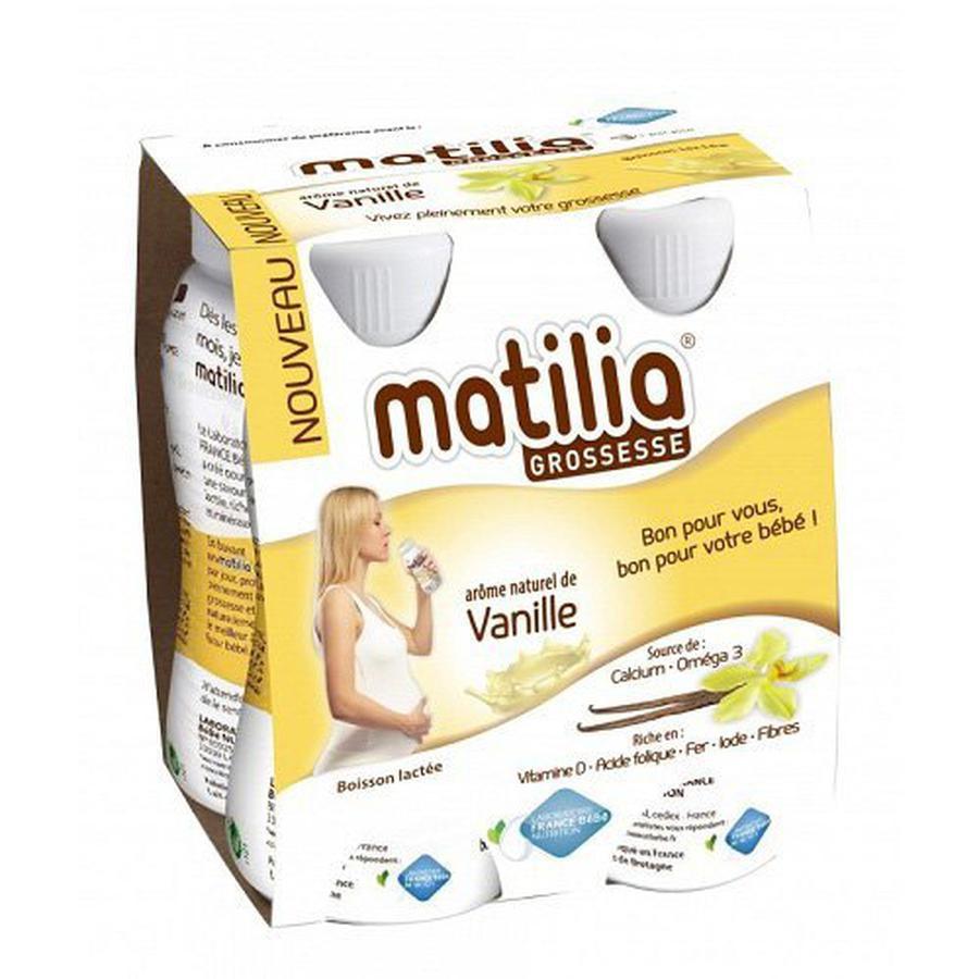 Sữa bầu matilia Pháp vị socola/Vani/dâu(4 hộp)