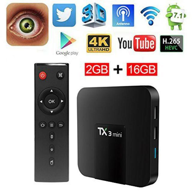 Andoid TV Box TX3 Mini Ram 2GB - ROM 16GB
