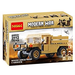 ( W077781) Đồ chơi – Lego lắp ghép xe quân đội MODERN WAR M1097A2 170 chi tiết