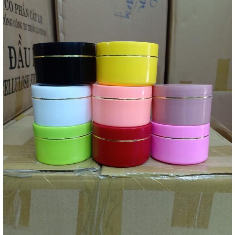 HỦ ĐỰNG KEM 100G (ĐEN) trắng, vàng,đỏ,xanh, hồng đậm, hồng nhạc,cam đào,xanh ngọc,xanh lá,