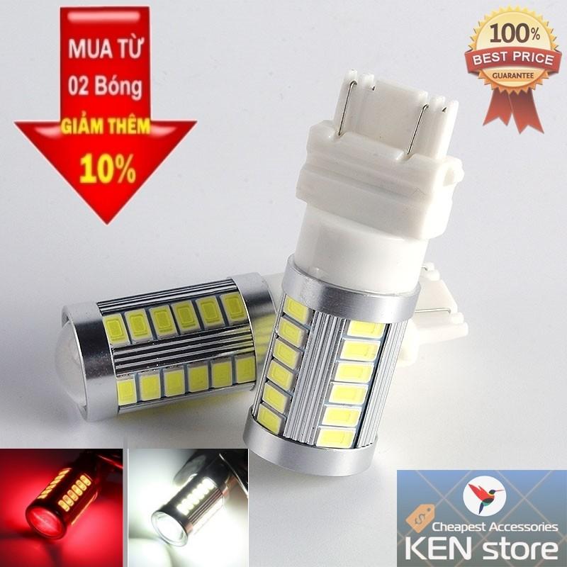 Bóng LED 3157 T25 đèn thắng, đèn phanh, đèn hậu 2 TIM dành cho ô tô cực sáng