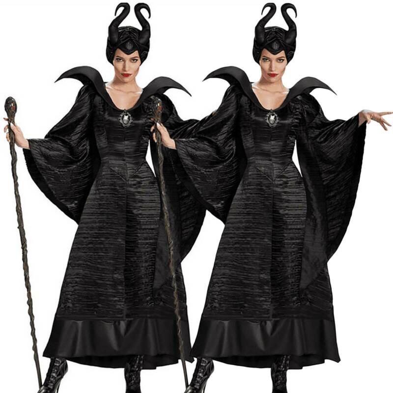 (Sẵn) Trang phục hoá trang maleficent/ Tiên Hắc Ám kèm mũ vải có sừng