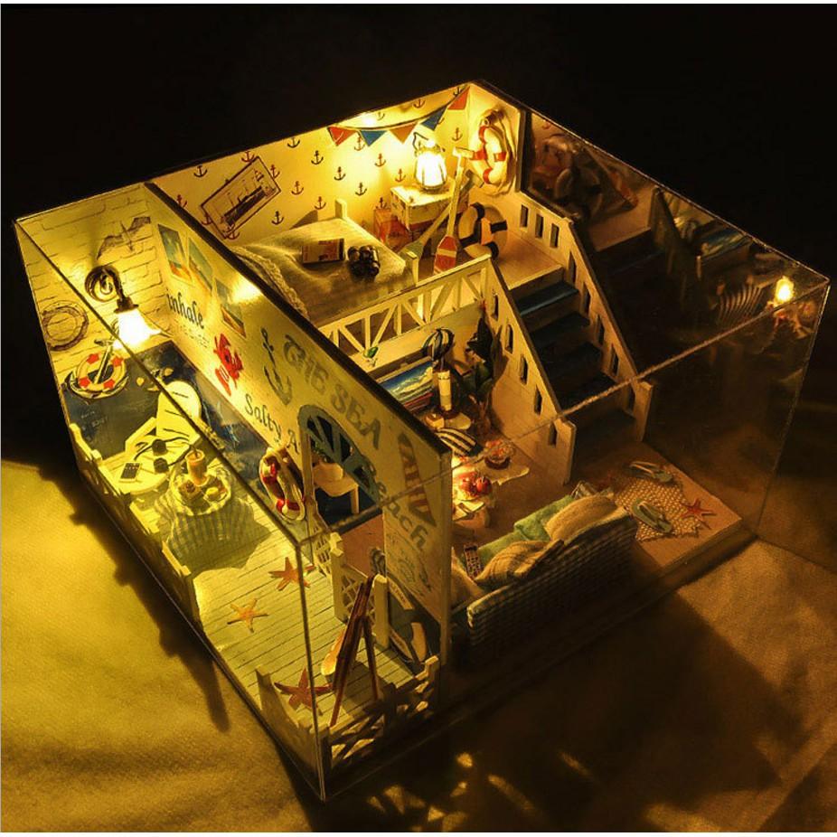 Mô hình nhà búp bê I-DIY - The Sea của chàng trai FA mùa Valentine trắng