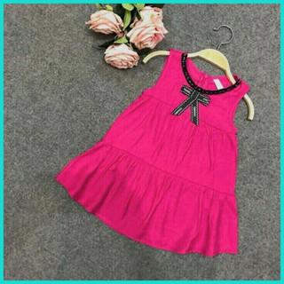 Đầm Voan xòe đính nơ cho Bé gái (10-24 kg)