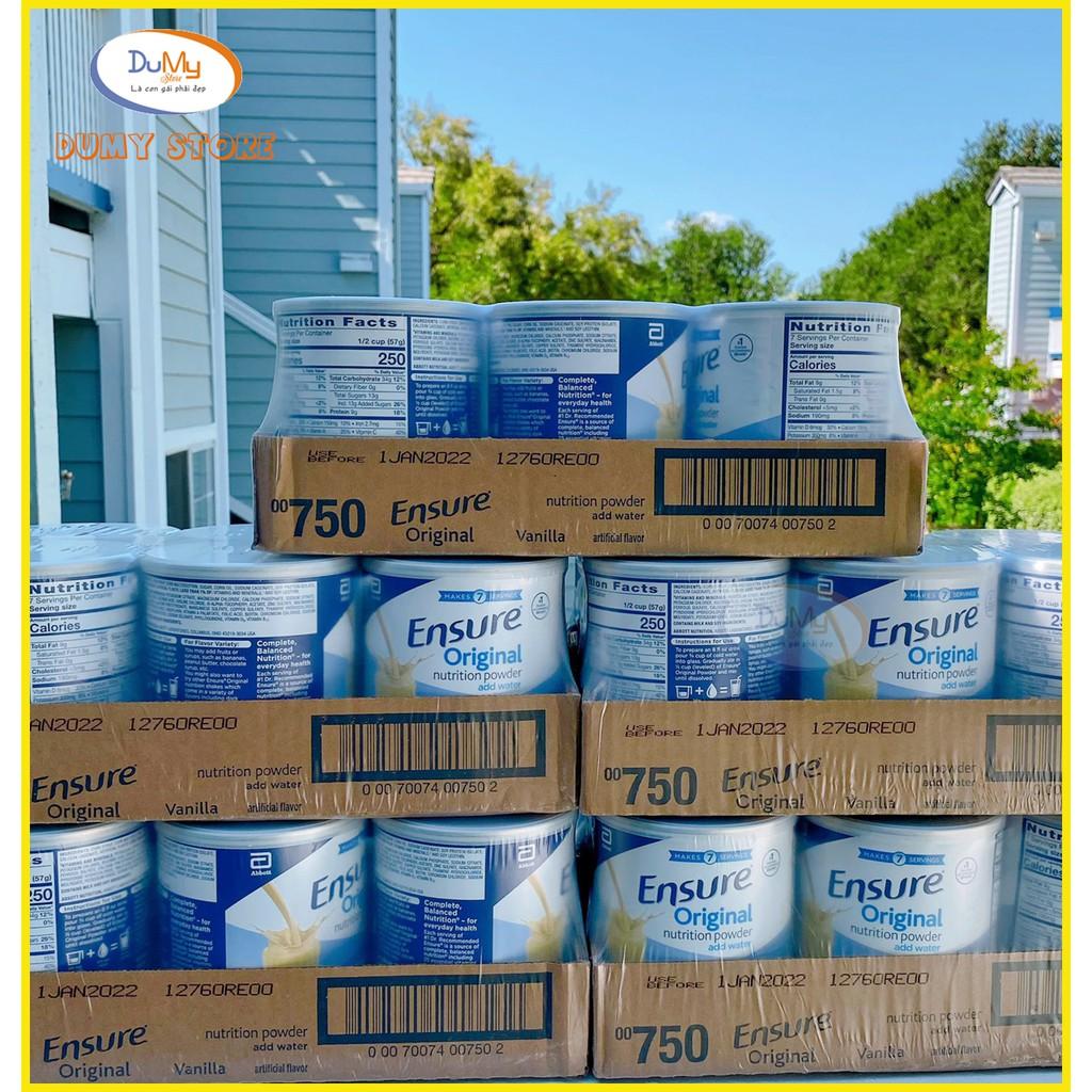 MẪU MỚI DATE 2022 Lốc 6 lon Sữa Ensure ORIGINAL Mỹ 400g