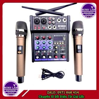 Bộ Mixer Yamaha G4 Bluetooth Tặng Kèm 02 Chiếc Micro Không Dây Chuyên Nghiệp