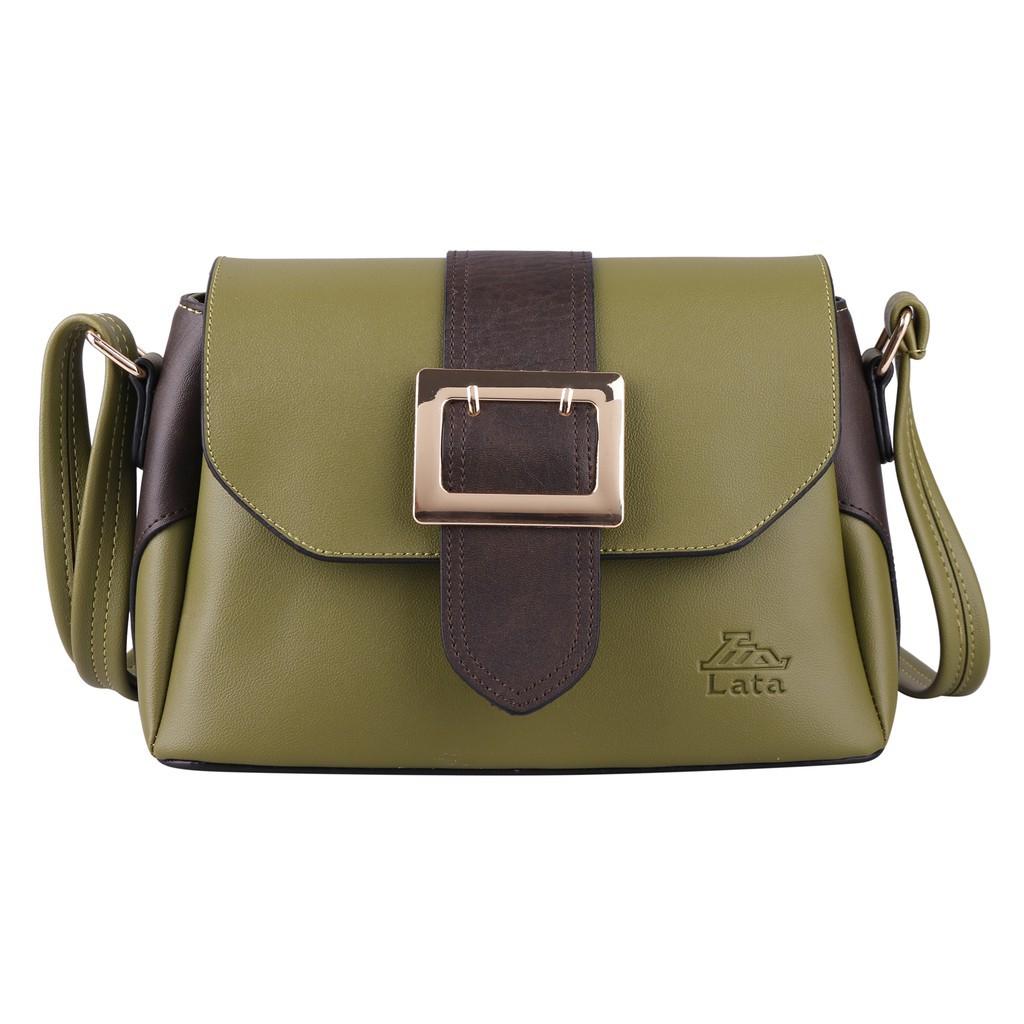 Túi đeo chéo nữ LATA HN60 màu rêu - [Hàng Mới]