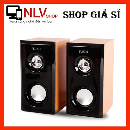 [FreeShip] Loa vi tính 2.0 Ruizu RS-810/820 - âm thanh cực hay (Đen gỗ) - Hãng phân phối chính thức