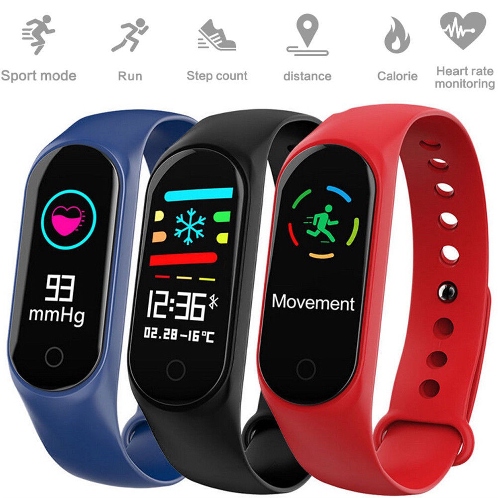 M3S Smart Bracelet Color-screen IP67 Fitness Tracker blood pressure Heart