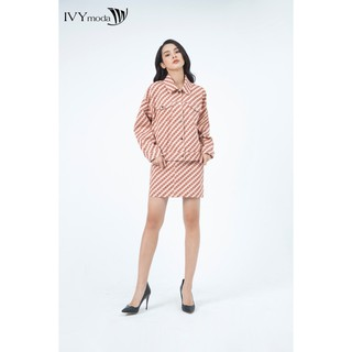 Áo khoác nữ họa tiết thiết kế IVY moda MS 77B7655 thumbnail