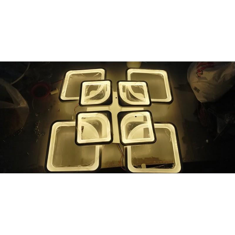 Đèn Ốp Trần Hiện Đại 4+4 - Điều Khiển Từ Xa