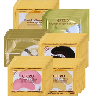 [Hàng mới về] Bộ 8/10 cặp mặt nạ mắt EFERO collagen vàng 24K chống lão hóa giảm quầng thâm chất lượng cao