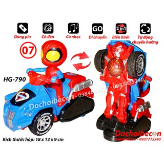 Lồng đèn Người nhện lái xe biến hình robot HG-790 – Dùng pin, có đèn, nhạc (Không kèm pin)