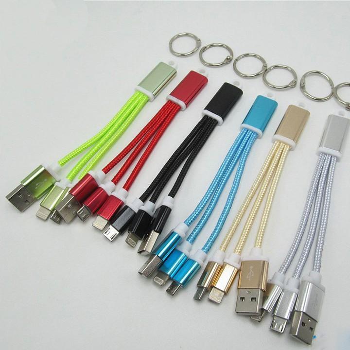 Cáp sạc điện thoại dây dù đa năng micro USB, lightning cho samsung, oppo, xiaomi, iphone , ipad …
