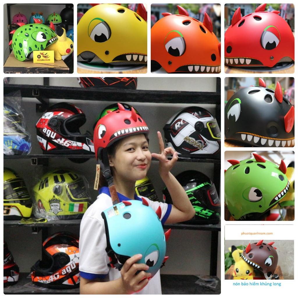 mũ bảo hiểm khủng long cho trẻ em ( có size cho người lớn )