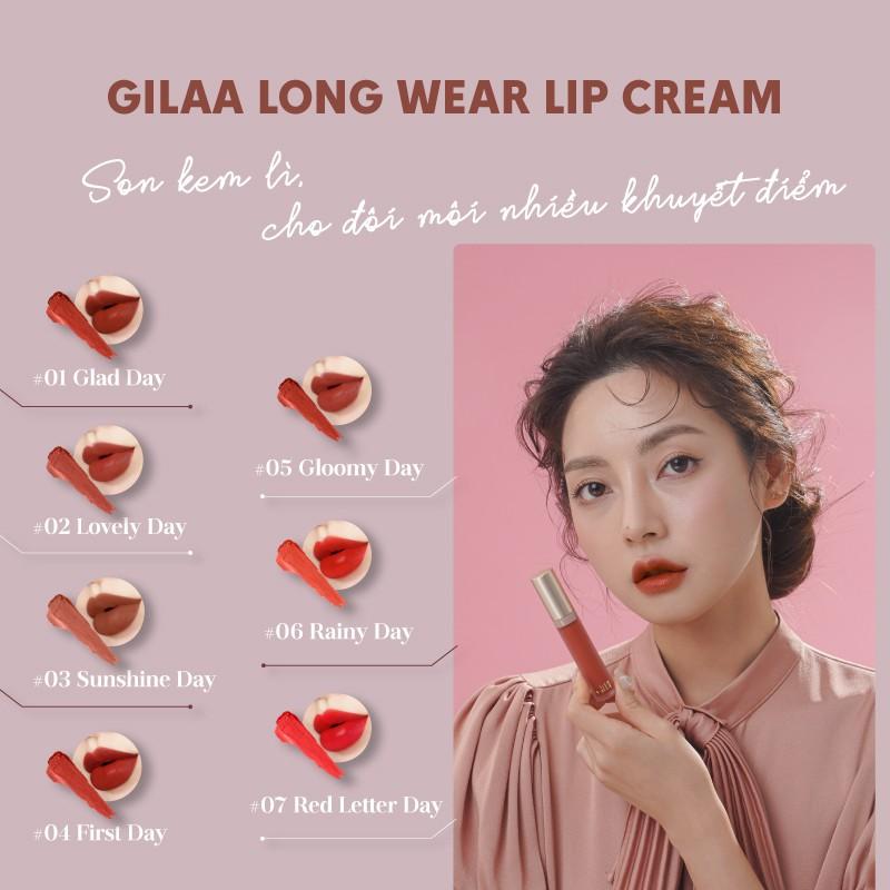 Son kem lì Gilaa Long Wear Lip Cream Full Size (5g)