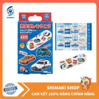 Băng dán cá nhân cho bé (hình xe Tomica), hàng Nhật Bản, gói 20 miếng thumbnail
