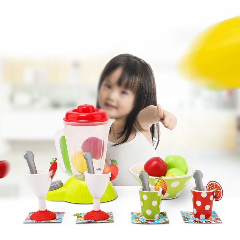 27pcs Kids Kitchen Appliances Role Play Kit Toys Children Play Juicer Mixer Toys