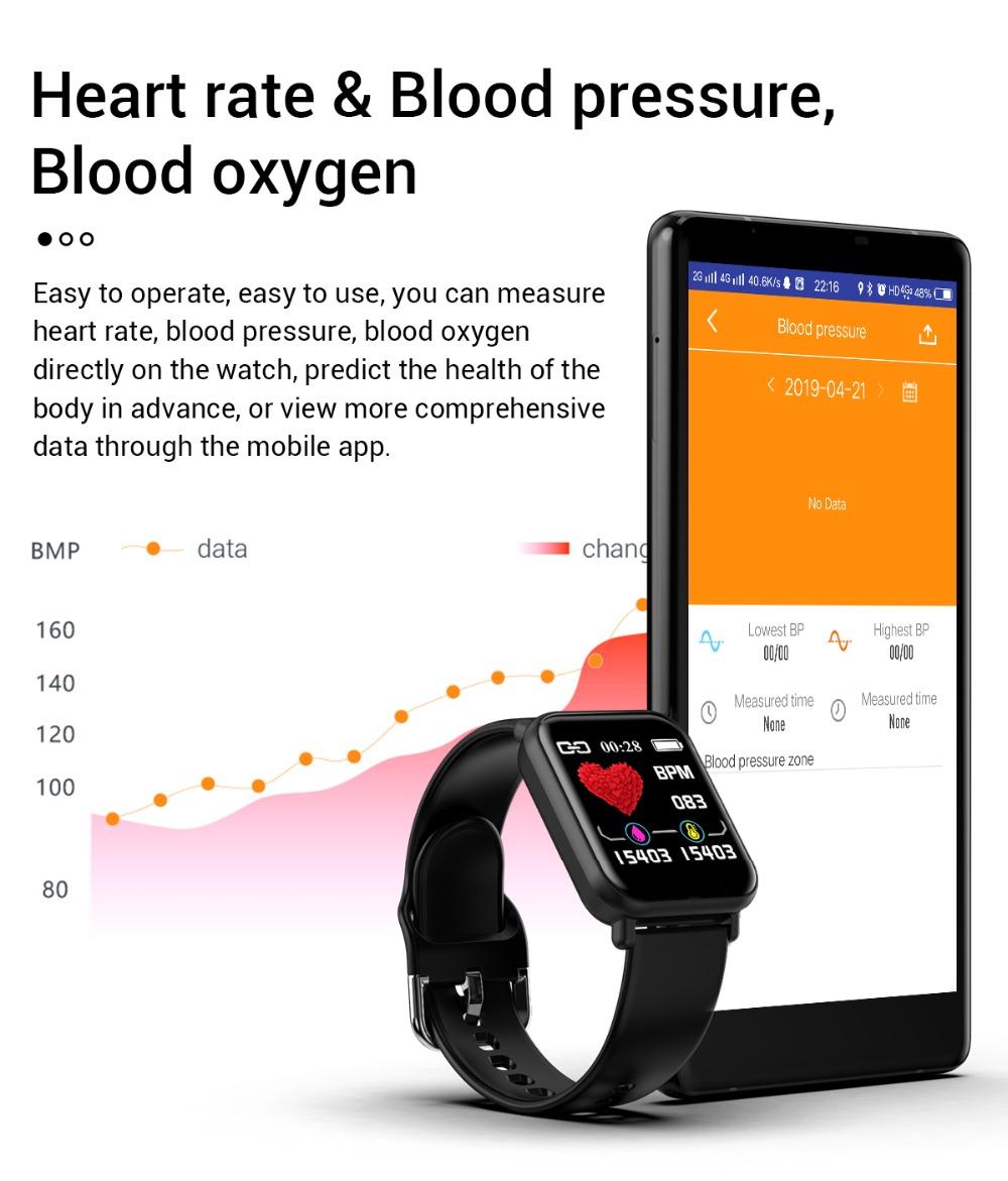 Đồng Hồ Thông Minh R16 Chống Nước Ip68 Theo Dõi Nhịp Tim Cho Android Ios