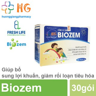 Cốm vi sinh Biozem - Giúp bổ sung lợi khuẩn, cải thiện hệ vi sinh đường ruột, hỗ trợ giảm rối loạn tiêu hóa (Hộp 30 gói) thumbnail