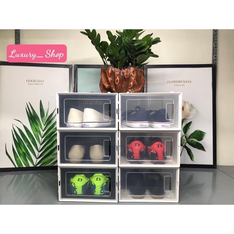 Tủ đựng giày dép lắp nhựa đa năng size lớn-Tặng kèm hút ấm
