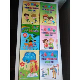 Combo 6 cuốn tập tô màu phát triển kỹ năng cho bé