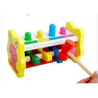 Đập chuột hình thỏ – đồ chơi gỗ thông minh