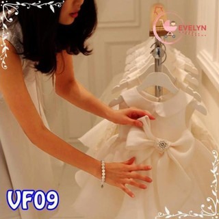 Váy Trẻ Em Công Chúa Evelyn Mã VF09 Thời Trang Cho Bé Gái 0-9 Tuổi Mặc Dự Tiệc Sinh Nhật