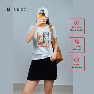 Áo thun nữ in hoạ tiết dễ thương MIANCHU thun lụa sữa co giản thoải mái mã ATTQ01 thumbnail
