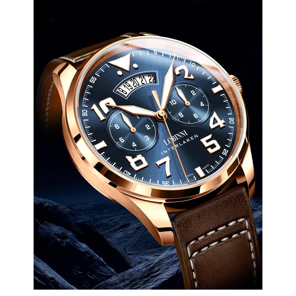 Đồng hồ nam chính hãng Lobinni No.16051B-3