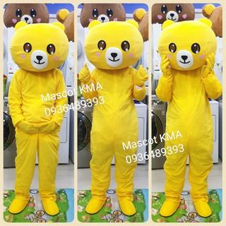 Quần áo hoá trang Mascot Gấu Brown màu vàng – Đồ chơi nhân vật, nhập vai