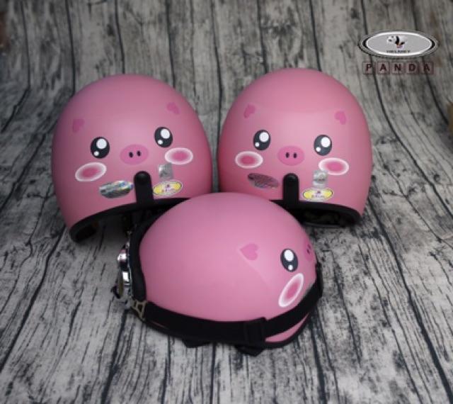 [FREE SHIP] Compo Mũ Phượt 3/4 Heo hồng + Kính uv500 to+ khan