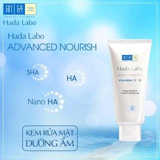 Hình ảnh Kem rửa mặt dưỡng ẩm tối ưu Hada Labo Advanced Nourish Cleanser 80g-2