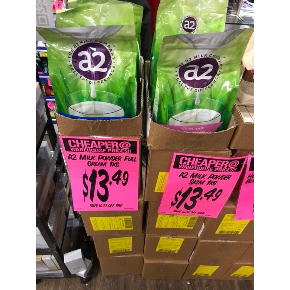 (Date t2/2022) Sữa Tươi A2 Úc Dạng Bột - Gói 1 Kg