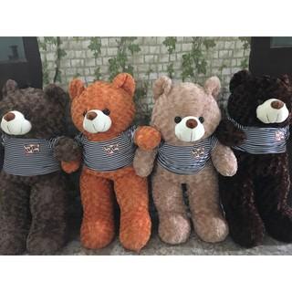 Gấu teddy nhồi bông khổ 1m20 cao 85cm thumbnail