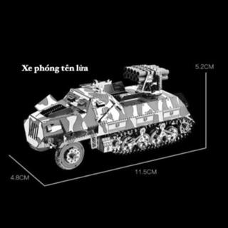 📌 (HÀNG CÓ SẴN) Mô hình lắp ghép kim loại 3d Xe quân sự