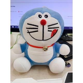 Thú nhồi bông( gấu bông) hình chú mèo máy doremon cực đáng yêu - Bông mềm và có móc dính thumbnail