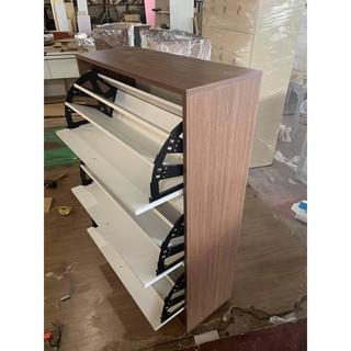Tủ giầy thông minh 3 ngăn bằng gỗ mẫu 2020