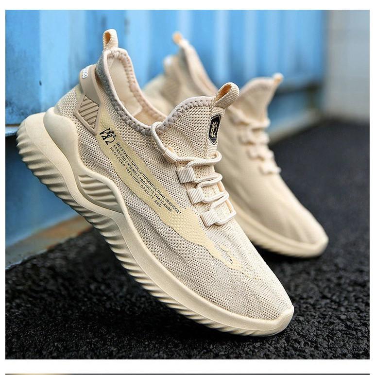 Giày thể thao nam sneaker thoáng khí Đế APB sườn chữ 2 màu mới